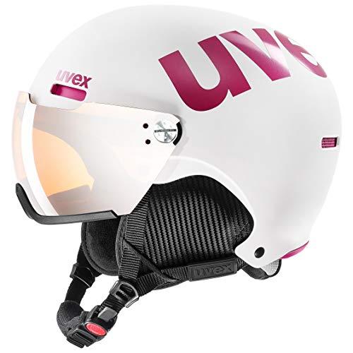 uvex Unisex- Erwachsene, hlmt 500 visor Skihelm, white-pink mat, 52-55 cm