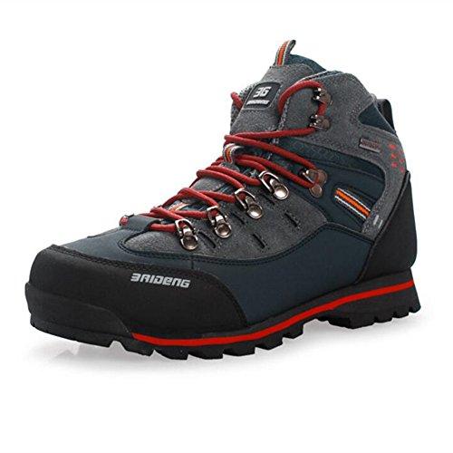 Showlovein Herren Wanderschuhe High Top Trekking-Schuhe rutschfeste Atmungsaktive Wanderschuhe Trekking Bergsteigen Stiefel