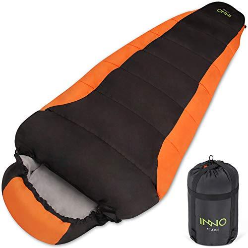 Mumienschlafsack für Erwachsene Camping Wandern Rucksackreisen Outdoor Reisen mit tragbarem Kompressionssack Leichte Schlafsäcke für Frühling Sommer Herbst 3 Jahreszeiten für warmes oder kaltes Wetter