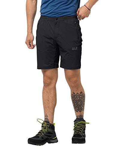 Jack Wolfskin Herren Trail Shorts M Schnelltrocknende Kurze Wanderhose, Black, 46