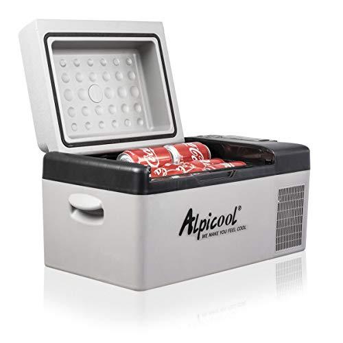 Alpicool C20 20 Liter Kühlbox 12v Mini Kühlschrank klein elektrische Camping Gefrierbox Tragbare für Auto, LKW, Boot, RV und Steckdose, -20℃-20℃, mit USB Anschluss