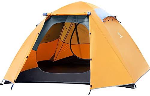 Bessport Ultraleicht Zelte 4 Personen, Winddicht &Wasserdicht, 3-4 Saison, Kuppelzelt Einfach für Trekking, Festival, Camping, Rucksack, Familien, Outdoor