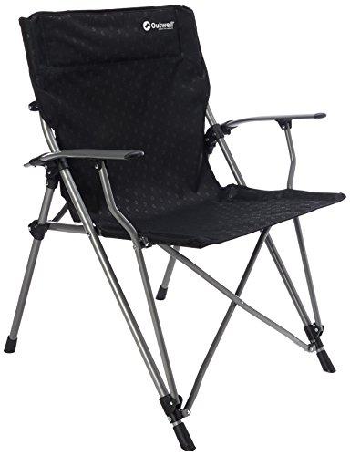 Outwell 470044 Goya Campingstuhl mit einer Tragkraft von 100 Kg, Schwarz, 13 x 30 x 110 cm,