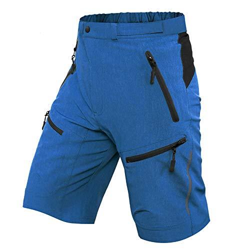 Ally MTB Hose Herren Radhose, Mountainbike Hose Fahrradhose Herren Kurz, Outdoor Sport Herren Radlerhose MTB Bike Shorts