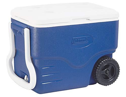 Coleman Passive Kühlbox 40 QT Performance Wheeled Cooler, Thermobox 37.5 L Fassungsvermögen, Mobile Eisbox mit Rädern