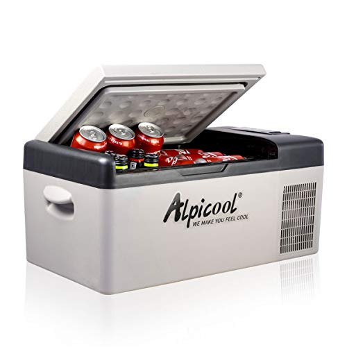Alpicool C15 Kühlbox 12v Mini Kühlschrank Elektrische Camping-Gefrierbox Klein Tragbare für Auto, Lkw, Boot, RV mit USB Anschluss