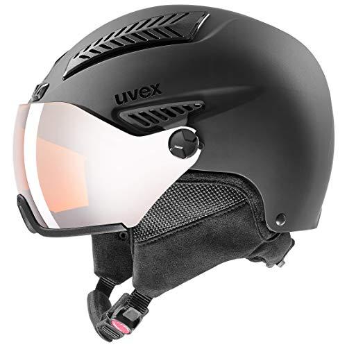 uvex Unisex- Erwachsene, hlmt 600 visor Skihelm, black mat, 59-61 cm