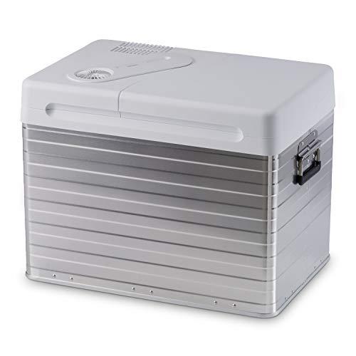 Mobicool MQ40A AC/DC - Tragbare elektrische Alu-Kühlbox, 39 Liter, 12 V und 230 V für Auto, Lkw, Boot, Reisemobil und Steckdose, Aluminium-Gehäuse