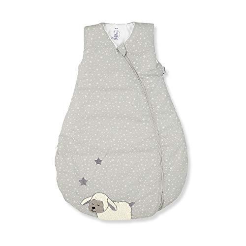 Sterntaler Schlafsack für Kleinkinder, Ganzjährig, Funktionsschlafsack Schaf Stanley, Reißverschluss, Größe: 70, Grau