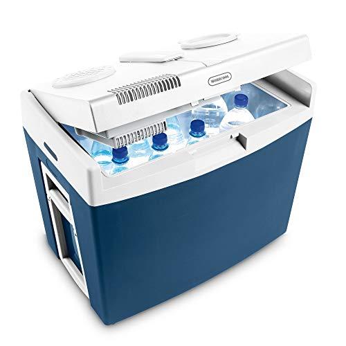 Mobicool MT35W, elektrische Kühlbox mit Rollen und Griff, Batterieschutz, 34 Liter, 12 V und 230 V für Auto, Lkw, Boot, Reisemobil und Steckdose