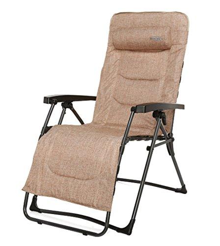 Relaxliege Relax Lounger Westfield Rock braun 140kg belastbarkeit gepolstert Hochlehner Campingstuhl Klappstuhl B-Ware