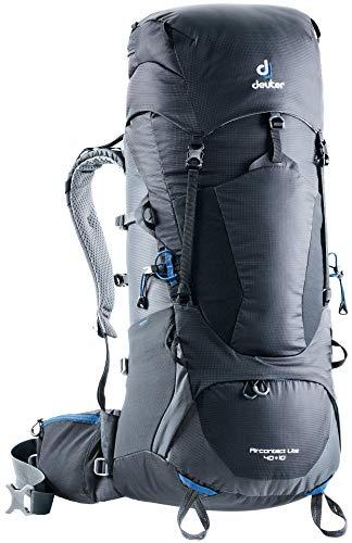 Deuter Unisex Aircontact Lite 40 + 10 Trekking Backpack, Black-graphite, Einheitsgröße