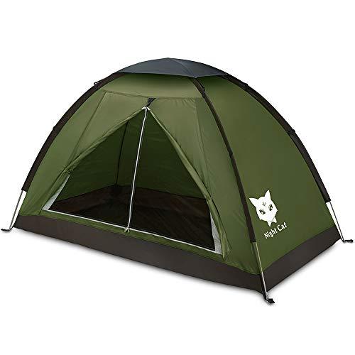 Night Cat Ruckzuck Zelt 1 Personen Mann Wasserdicht Zelt Leicht Camping Atmungsaktiv Einfache Einrichtungs für Outdoor Wandern Doppelschicht