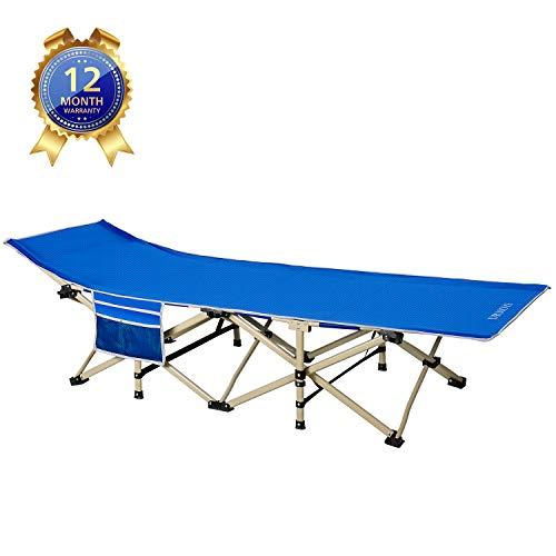DRMOIS Camping Betten Feldbetten Klappbar, max Statische Belastbarkeit 260 kg Campingliege für Outdoor Camping Reisen Home Lounging Verwenden - Königsblau
