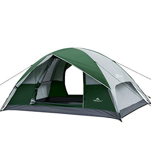 Forceatt Campingzelt f/ür 2 Personen mit Doppelt/üren bel/üftet und f/ür Outdoor- und Wandertouren geeignet wasserdicht und Winddicht Rucksack