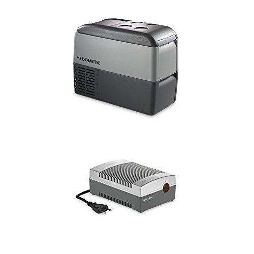 Dometic Waeco CoolFreeze CDF 26 - tragbare elektrische Kompressor-Kühlbox/Gefrierbox mit Batteriewächter, 21 Liter, 12/24 V für Auto, Lkw oder Boot + CoolPower EPS817 Netzadapter, 230 V 12 V