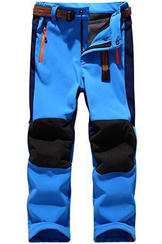 BenBoy Kinder Softshellhose Gefüttert Skihose Thermohose Wasserdicht Winter Schneehose Jungen Mädchen Wanderhose Outdoorhose