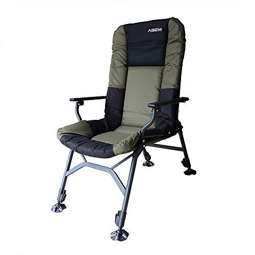 AGEM Campingstuhl 150kg karpfenstuhl mit armlehne Fischerstuhl Outdoor Chair