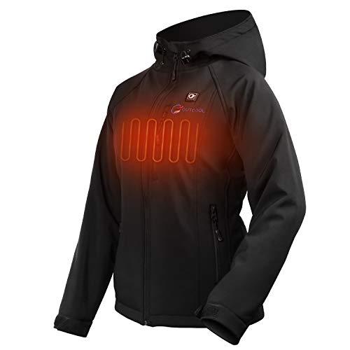OUTCOOL Beheizte Jacke Damen Beheizbare Heizjacke mit Akku zum Outdoor Arbeiten und Tägliches Tragen (M)