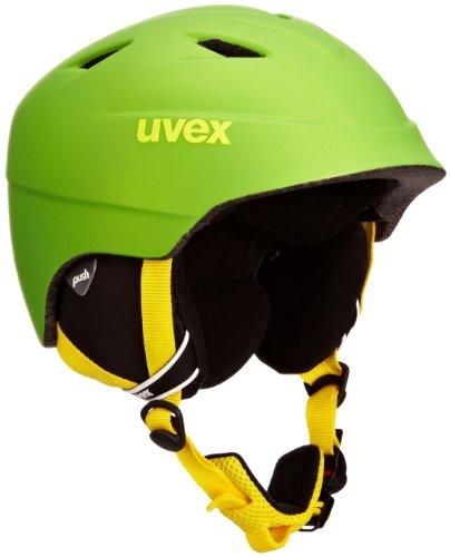 Uvex Kinder Airwing 2 pro Skihelm, applegreen Shiny, 52-54 cm