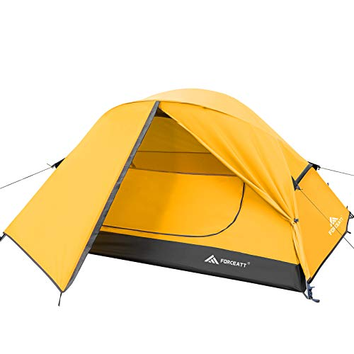 Forceatt Zelt für 2 Personen in 4 Jahreszeiten | Ultraleicht für Camping, Rucksackreisen, Wandern und andere Outdoor-Aktivitäten | Doppeltüren,Wasserdicht, einfach aufzubauen und zu tragen.