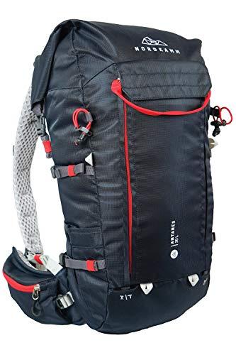 NORDKAMM Wanderrucksack 30L 40L Damen u Herren Trekkingrucksack Tourenrucksack Klettersteig blau oder rot