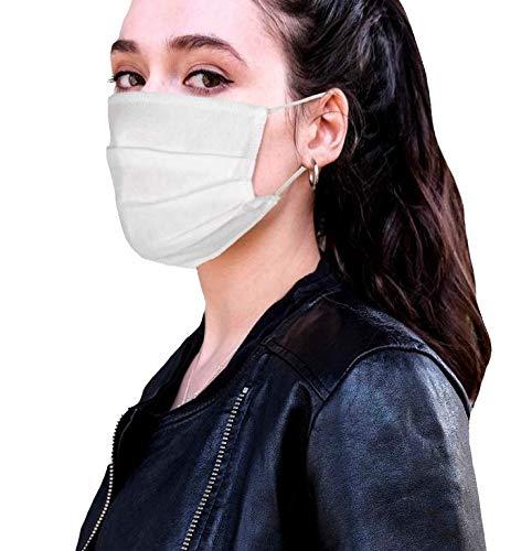 MASK, 5-er Pack, 100% Vlies 3-lagig kochbar waschbar wiederverwendbar nachhaltig sofort lieferbar in der EU hergestellt latexfreies Band Mundschutz Gesichtsmaske Mund Nase Maske Nasen