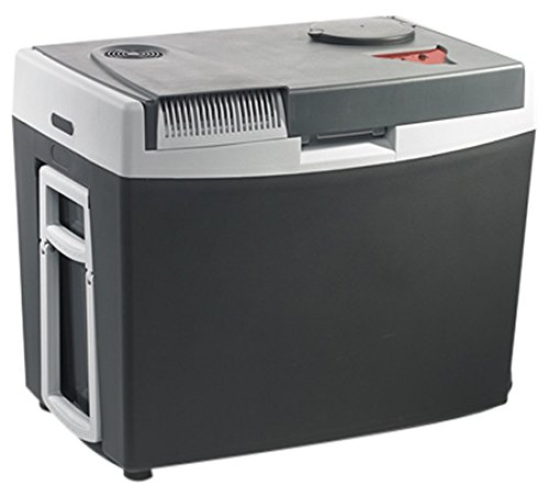 Mobicool G35 AC/DC, thermo-elektrische Kühlbox / Heizbox mit Rollen und Griff, 34 Liter, 12 V und 230 V für Auto, Lkw und Steckdose, USB-Anschluss, A++