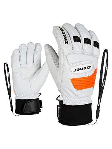 Ziener Erwachsene Guard GTX Grip PR Ski-Handschuhe/Wintersport | Wasserdicht, Atmungsaktiv, Gore-tex, Primaloft, Leder, Rennlauf, weiß (white), 6.5
