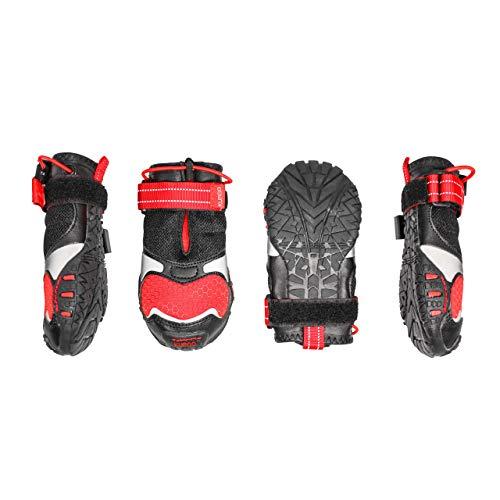 Kurgo Querfeldein Schuhe für Hunde, Hunde Stiefel, wasserabweisende Hundeschuhe, Hunde Pfotenschutz für das ganze Jahr, reflektierende Hunde-Schneestiefel, für kleine, mittlere und große Hunde