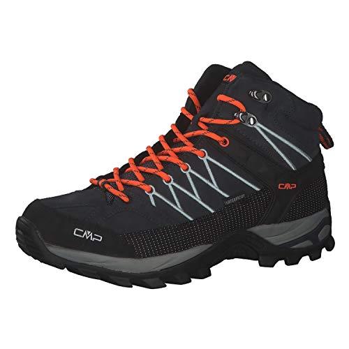 CMP Herren Trekking Schuhe Rigel MID 3Q12947 Antracite-Flash Orange 40