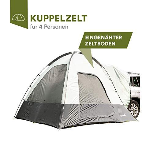 skandika Pitea SUV Zelt für 4 Personen, Fahrzeug/Auto/Bus/Mini-Van Vorzelt, freistehend 300x300cm mit 220cm Höhe & eingenähtem Zeltboden
