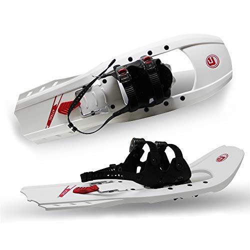 ATTRAC Schneeschuhe Kunststoff | Belastbar bis 110 kg | RUTSCHSICHER doppelte Ratschenbindung