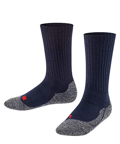 FALKE Socken Active Warm Wolle Kinder schwarz grau viele weitere Farben verstärkte Kindersocken ohne Muster atmungsaktiv dick gegen Schweiß für aktive Kinder 1 Paar