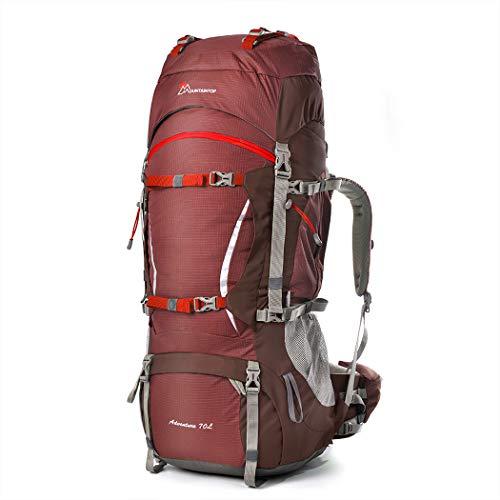 MOUNTAINTOP 70+10Liter Erwachsene Trekkingrucksäcke Camping Reisen Backpacking Backpacker Herren Damen mit Regenhülle
