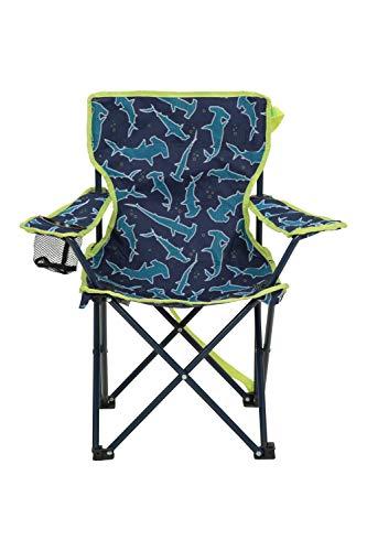 Mountain Warehouse Gemusterter Mini-Klappstuhl für Kinder - Campingstühle für Kinder, Leichter Picknickstuhl, strapazierfähiger Hocker - Für Picknicks, Strand, Garten Dunkelblau Einheitsgröße