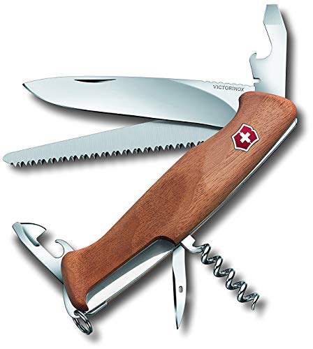 Victorinox Holz Taschenmesser Ranger Wood 55 (10 Funktionen, Feststellklinge, Schraubendreher)