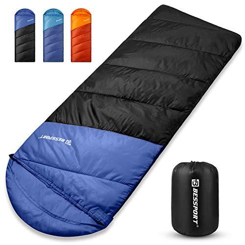 Bessport Schlafsack Winter Erwachsene, 5℃ Warm Deckenschlafsack 3 Jahreszeiten, Outdoor Schlafsack Wasserdichter & Ultraleicht für Camping,Trekking und Reisen
