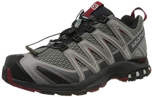 Salomon Herren Trail Running Schuhe, XA PRO 3D, Farbe: grau (Monument/Ebony/Red Dahlia) Größe: EU 40