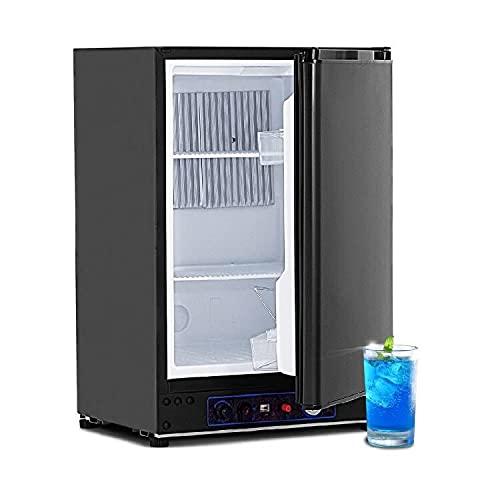 Smad 60L Tragbarer Gas-Kühlschrank 220V 12V Elektroabsorption Propankühler schwarz (XC-60-2)