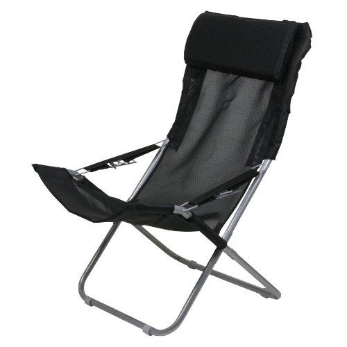 10T Campingstuhl Maxi XXL Klappstuhl Gartenstuhl + Kopfpolster & verstellbarer Rückenlehne max 136kg