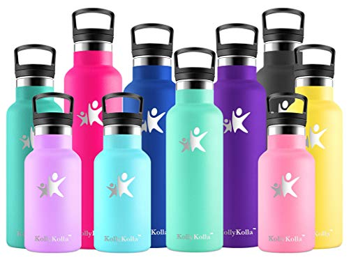 KollyKolla Edelstahl 750ML Trinkflasche   BPA-freie Isolierflasche   Auslaufsichere Wasserflasche für Sport, Fahrrad, Hund, Baby, Kinder