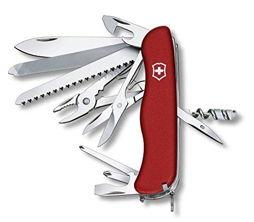 Victorinox Taschenmesser Work Champ (21 Funktionen, Metallsäge, Kombi-Zange, Holzsäge, Schere, rot