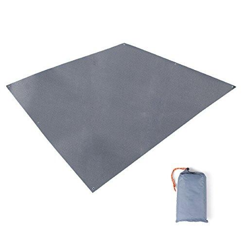 TRIWONDER wasserdichte Zeltunterlage, Zeltplane, Tarp für Hängematte, Regenschutz Sonnenschutz für Zelt Camping Picknick (Grau)