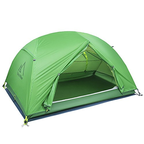 Terra Hiker Zelt, 2 Personen Kuppelzelt, Wasserdicht Campingzelt, 4000 Wassersäule, Vielseitige Verwendung, Kann auch als Moskitonetz und Sonnenschutz (TH0107)