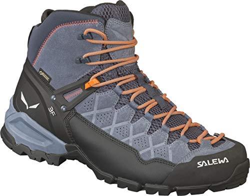 Salewa Herren MS Alp Trainer Mid Gore-Tex Trekking- & Wanderstiefel, Ombre Blue/Fluo Orange, 45 EU
