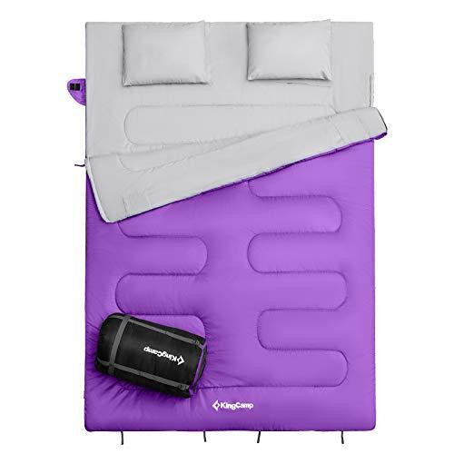 KingCamp Oxygen Serie Deckenschlafsack Schlafsack Sommerschlafsack mit Kissen für 2 Personen