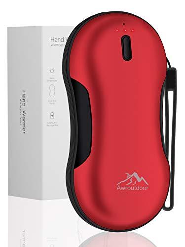 Awroutdoor 9000mAh Wiederaufladbare Handwärmer USB Taschenwärmer Durable Portable Heizung Wiederverwendbare elektrische Handwärmer Beste Wintergeschenke