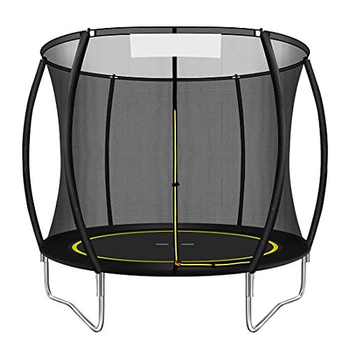 Trampolin.One Gartentrampolin, Outdoor Trampolin, Kindertrampolin, Ø 244 cm, innovatives Elastik Sprungssystem, inkl. Sicherheitsnetz, Witterungsbeständig, Belastbar