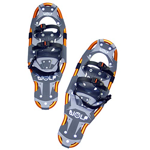 WOLF IMPRESSION 23 Schneeschuhe (Snow Shoes, Steigeisen, Schneewanderschuhe, Schneeschuhwandern, Eisschuhe, Steighilfe, Schuhe-Krallen, Boa, Harscheisen, Steig Ski, Snow Feat, Tiefschneeschuhe, Spikes, Fersenriemen, Schneeboots) …